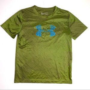 Under Armour Heatgear Boys Green Short Sleeve Top